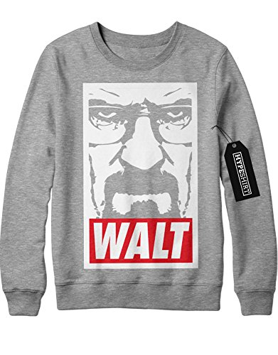 Sweatshirt Breaking Bad Walter White Jesse Pinkman Crystal Meth Hype C980020 Grau L
