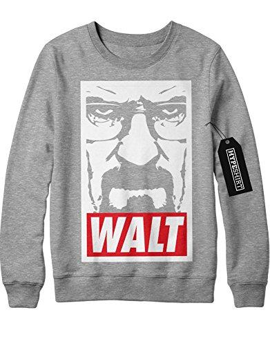 Sweatshirt Breaking Bad Walter White Jesse Pinkman Crystal Meth Hype C980020 Grau L (Breaking Bad Cosplay Kostüm)