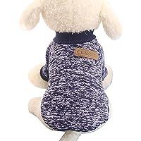 Fossrn Ropa Perro Pequeño Invierno Mascota Cachorro Clásico Suéter de Polar Lana Camiseta