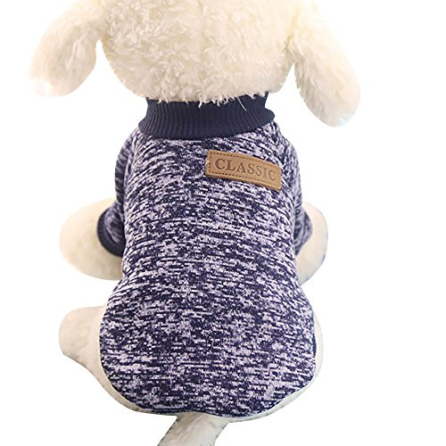 U.Expectating Haustierweste Sweatshirts Haustier Hund Klassische Pullover Kleidung Haustier liefert Winter warme Hundebekleidung (S, ()