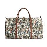Bolsa de viaje grande de moda Signare para mujer en tela de tapiz bolsa de viaje para el fin de semana Lirio de oro