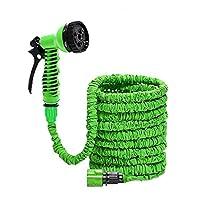 75Feet Ultralight Garden Hose Flexible 3X Expandable Magic Water Hose Fast Connector with 7-mode Spray Nozzle Garden Hose (Green)