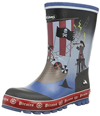 Viking  Pirates, Bottes à enfiler mixte enfant - Bleu - Blau (navy/multi 550), 23 EU