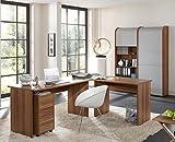Arbeitszimmer Büroeinrichtung Büromöbel Büro komplett Set OFFICE PROFI in Walnuss