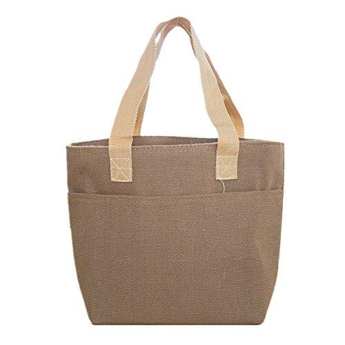 neuer frauen picknick cooler bag halten lebensmittel frisch thermoskanne große tasche thermische essen cooler bag eisbeutel lunchpaket versandkosten Brown