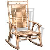 vidaXL Silla mecedora de bambú
