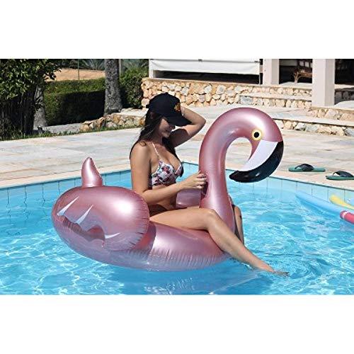LSSMN Schwimmring Rose Gold Aufblasbare Flamingo Pool Float Tube Pool Erwachsenen Riesenschwimmbad Swimming Ring Pool Spielzeug Schwimmen Float (Pool Float Tube)