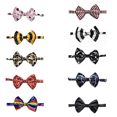 GOGO Pet Bow Tie Collar, Dog Grooming Accessories, 10 PCS Assorted from GOGO