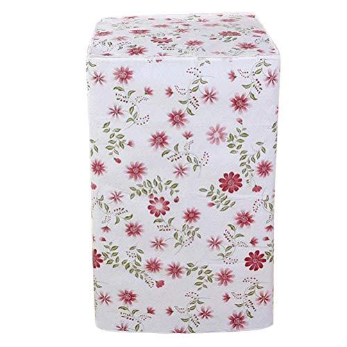 Vosarea Waschmaschine Abdeckung Rot Blumen Mustern Wasserdicht Staubdicht Deckel für Waschmaschine Frontlader Wärmepumpentrockner (Frontlader-waschmaschine Abdeckung)