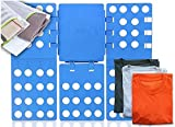 BADARENXS Adjustable Flip & Fold Clothes Folding Board accomodate to clothes from T shirt to overcoat blue Premium folding board for clothes + Free laundry net in set - The sturdy clothes folder is an enormous folding aid to combine laundry (56 cm x 66 cm)