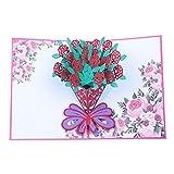 Grußkarte mit Pop-up-Blume/Postkarte/Geburtstagskarte/Weihnachtskarte,3D Pop Up Grußkarte für Muttertag,Lehrertag,oder Dankfest etc #3:Sonnenblume