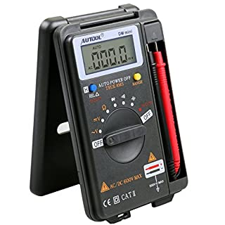 AUTOOL DM mini DMM Integrated Personal Handheld Pocket Mini Digital Multimeter Ammeter Auto Range Tester Autoranging Digital Multimeter