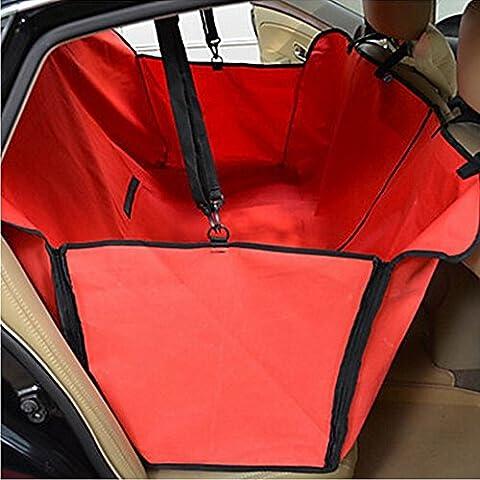 Minidiva Plegable Resistente al agua cubierta de asiento de la hamaca Seguridad Perro de coches para Mascotas (Rojo)