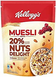 Kellogg's Muesli with 20% Nuts Delight Pouch, 5