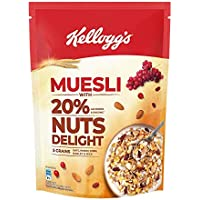 Kellogg's Muesli with 20% Nuts Delight Pouch, 500 g