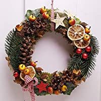 Türkranz Weihnachten Weihnachtskranz Äpfel