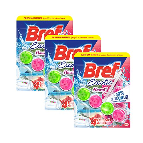 Bref WC Power Activ Hawaï 50 g - Bloc Nettoyants WC - Lot de 3