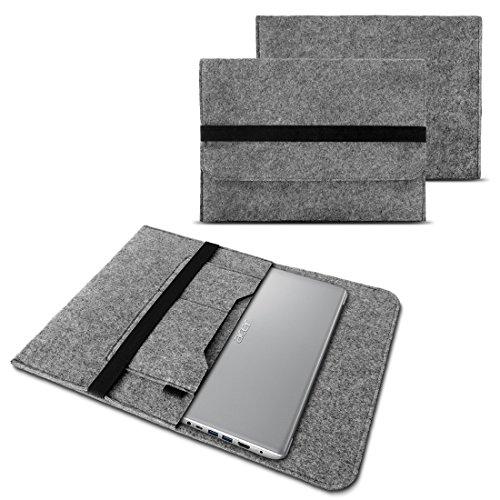 NAUC Notebook Tasche kompatibel mit Acer Swift 1 2 3 5 7 14 Zoll Hülle Filz Sleeve Case Schutzhülle Cover, Farben:Hell Grau -
