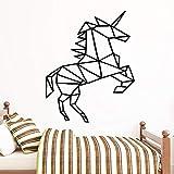 yaoxingfu Estilo de Dibujos Animados Horse Decal Vinilo Removible Cartel Mural para Niños Decoración de la Habitación de Vinilo De 43 cm X 53 cm