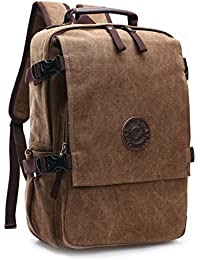 Loietnt Laptop Backpack,Vintage Casual Canvas Backpack Travel Rucksack Satchel Backpack Camping Backpack for Men School / Hiking /Outdoor Casual Daypacks College Bag