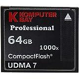 Komputerbay 2 PACK - 64GB Professionelle Compact Flash-Karte CF-1000X 155 MB / s lesen und 140 MB / s schreiben, Extreme Speed UDMA 7 RAW 64 GB
