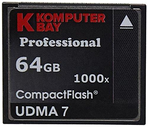 KOMPUTERBAY 2 PACK - 64GB Professional COMPACT FLASH CARD CF 1000X 155MB/s Read and 140MB/s write Extreme Speed UDMA7 RAW 64 GB