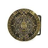YONE Mayan Aztec Calendar Belt Buckle Bronze Gürtelschnallen