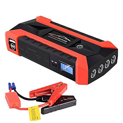 Car Detection Light 600A Peak 20000Mah Auto Starthilfe, 12 V Portable Fahrzeug Batterie Booster (Bis Zu 6,0 L Gas Oder 3,0 L Dieselmotor), Multifunktions Power Bank Auto Notfall Kits Mit Smart Clamps