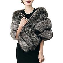 d1695ff4fd03 FOLOBE mariage faux fourrure foulards veste étoles femmes épaissir faux  fourrure écharpe châles hausser poncho chaud