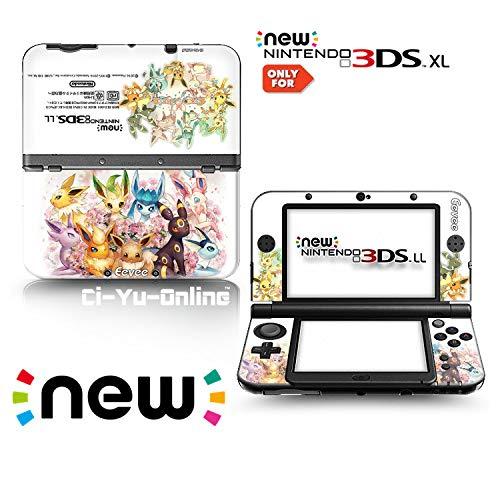 Ci-Yu-Online Vinyl-Aufkleber für Nintendo 3DS XL / LL Konsolensystem, Motiv Eevee Evolunction Family White #1, limitierte Auflage