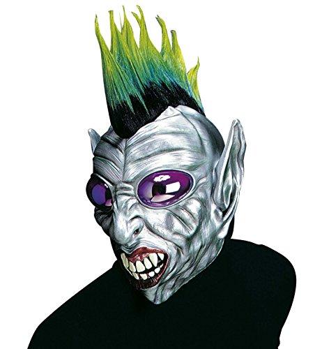 Widmann Maske Alien Punk (Drei Augen Alien Kostüm)