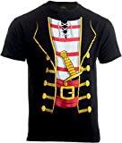 Herren/Unisex T-Shirt mit großem Print vom Piratenkostüm - ideal als lustige Halloween-Verkleidung - 2XL