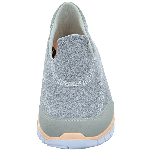 Sneakers EC16352 Damen Slipper Halbschuh sportlicher Boden Grau (Grau)