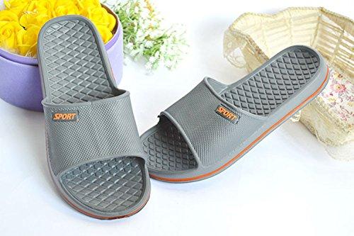 Sommer Männer Frauen Hausschuhe Bad Anti-Rutsch Hausschuhe Schuhe Grau
