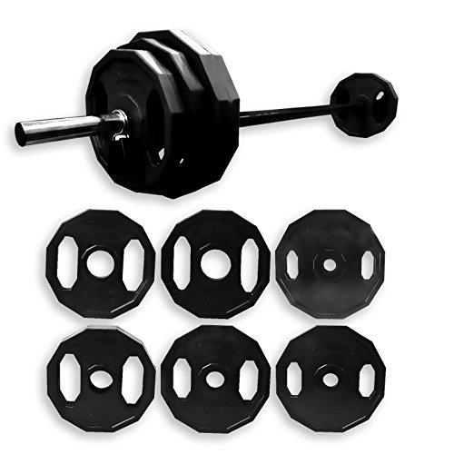 BodyRip schwarz Polygon 2,5cm Standard Gewicht Teller Barbell Studio Pumpe Set 20kg (Gewicht Teller-set Standard)