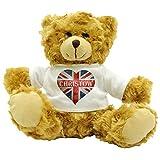 Love Christow Union Flag / Union Jack Heart Design Plush Teddy Bear Gift (Approx. 22cm High)