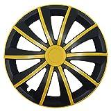 Universelle Radkappen - GRAL Gelb/Schwarz - 15 Zoll, passend für fast alle Fahrzeugtypen