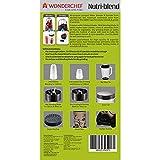 Wonderchef Nutri-Blend 400-Watt 3 Jars (Champange) with Free Servin Glass Set of 6 from Home Bazaar