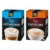 Krüger Dolce Vita Cappuccino und Latte Macchiato Set, mit 2 Sorten, Classic und Cremig-Zart, Milch Kaffee aus löslichem Bohnenkaffee, 20 Portionsbeutel, 429 g