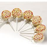 Swirls Lolly Choc Mould & 6 Sticks