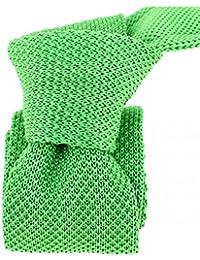 Clj Charles Le Jeune - Cravate Tricot. Vert Irlandais