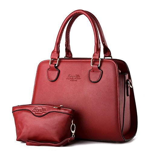 koson-man-damen-2in-1sling-tote-taschen-top-griff-handtasche-rot-rot-kmukhb243