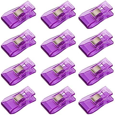 50 Pz Clip Meraviglia Per Clip Artigianato Hobby Quilting Cucito Viola