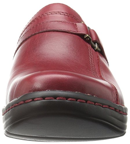 Clarks Hayla Marina Mule Red Leather