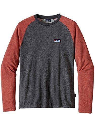 Herren Sweater Patagonia Board Short Label Lw Crew Sweater black w/roots red