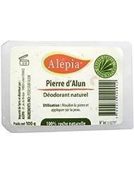 Pierre d'Alun Naturelle dans sa boîte plastique refermable - Lingot 100 G (Déodorant, Régule La Transpiration) - Potassium Alun