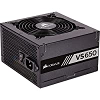 Corsair VS650 - Fuente de alimentación (650 Watts, PFC Activo, 80 Plus) Color Negro CP-9020172-EU