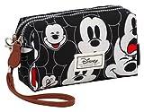 Disney Classic Mickey Visages Kulturtasche, 19 cm, Schwarz (Negro)