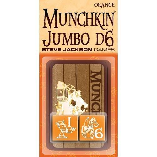 Steve Jackson Games 5523b-Munchkin Jumbo D6, arancione