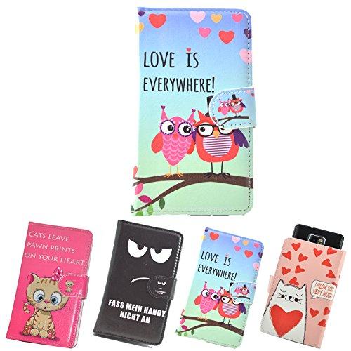 ikracase Slide Motiv Hülle für Phicomm Energy 4S Smartphone Handytasche Handyhülle Schutzhülle Tasche Case Cover Etui Design 3 - Eule I Love You